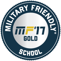 PCC's gold-level military friendly award emblem