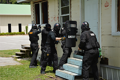 SWAT officers training
